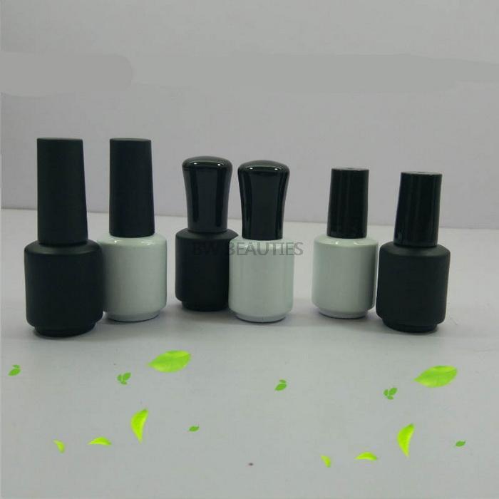 100 шт. / Лот 8 мл лак для ногтей пустой УФ-гель для гекса с крышкой кисти Белый черный элегантный цветной обычай