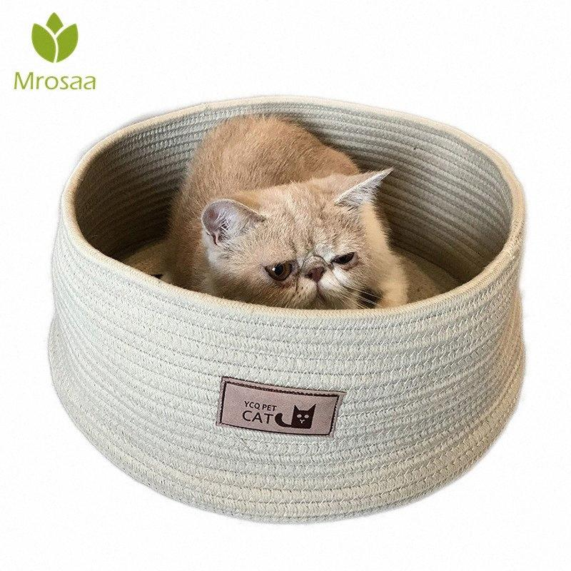 Cotton Rope Knitting Pet Kennel Cat anti-risco Kennel Cat Bed Sacos de Dormir Pet Camas Mat Coçar Board Casa alta qualidade Exor #