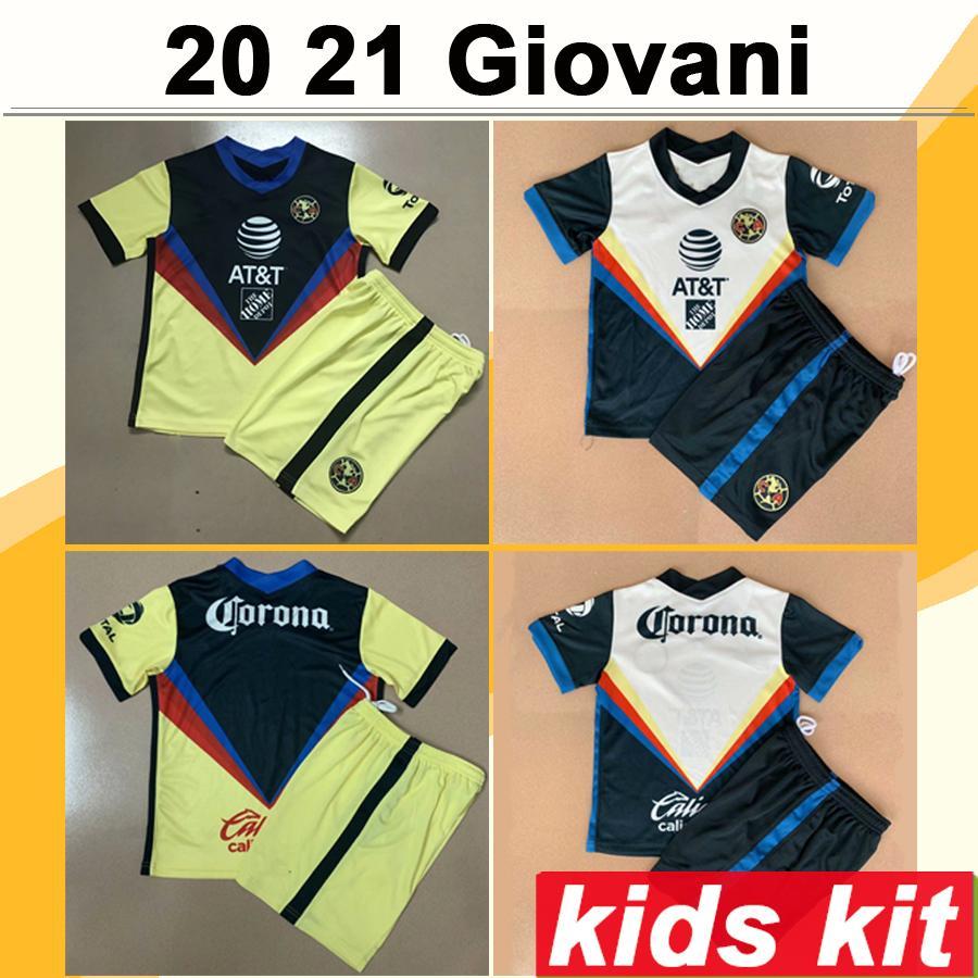 20 21 México Giovani Kit Kit Kit Jerseys de fútbol New R. Martínez Henry Home Alew Football Shirt F. Vinas Matheus J. Menez Uniformes infantil