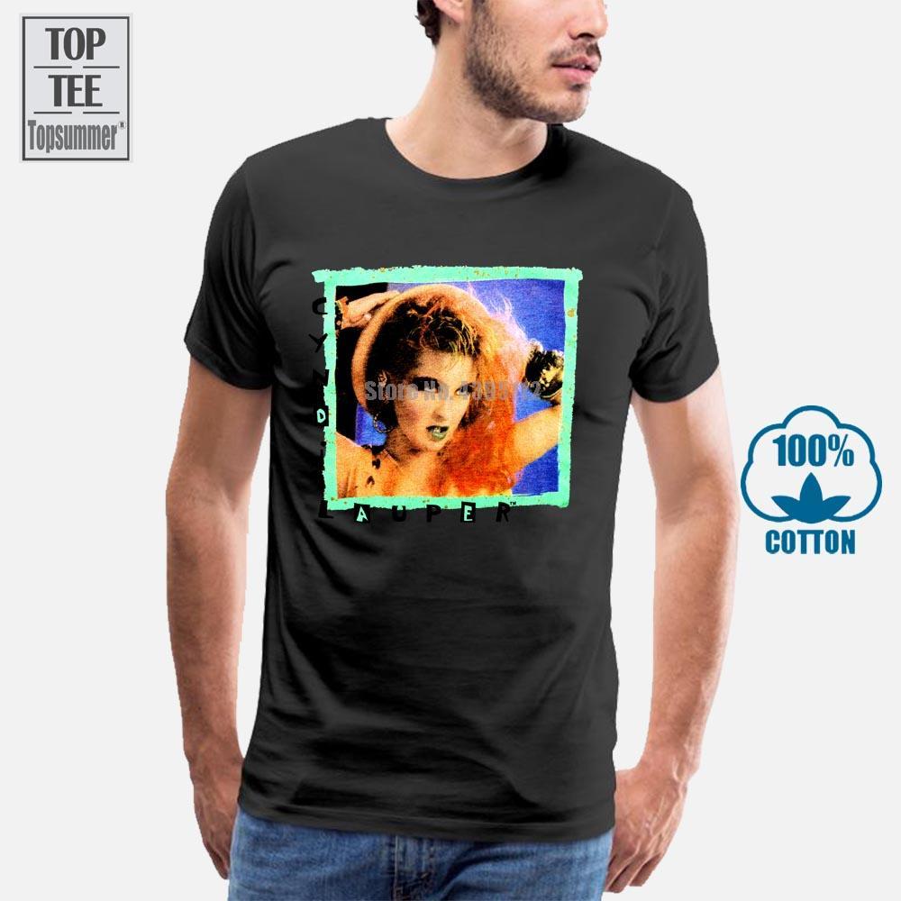 Très sport Rare Vintage Cyndi Lauper Fun tour 1984 Shirt Top Reprint Usasz