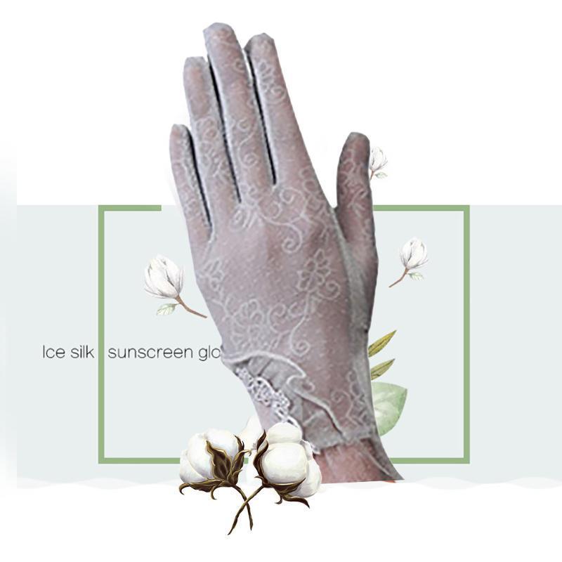 Пять пальцев перчатки женские сексуальные кружевные летние солнцезащитный крем ультрафиолетовой ездой экран шоу вечеринка дома дышащий полный палец короткий мода A50