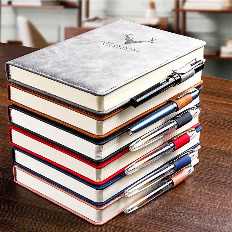 360 pagine Super fitta cera senso pelle A5 Journal Notebook Notebook Daily Business Ufficio per ufficio Notebook Notepad Diario Diario Forniture scolastiche