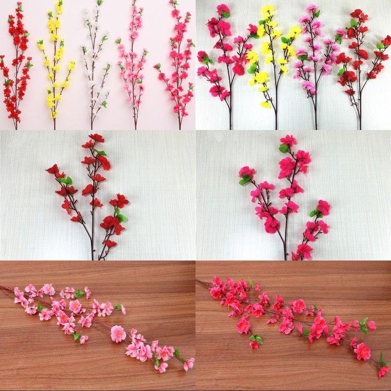 Long Short Stil Hochzeitsdeko Blumen Artificial Kirschblüten-Bäume Innen Zuhause Party Supplies Getrocknete Blumen-Niederlassungs-2 49hr G2