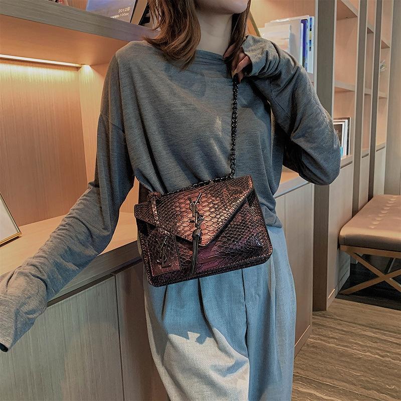 Frauen 2019 neue koreanische Version vielseitig Crossover einzelne Schulter bagshoulder Tasche Damenmode-Kette Tasche XaCq1