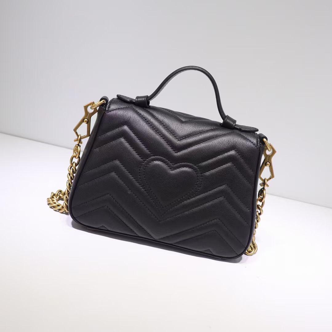 جلد البقر حقيبة جلدية للنساء حقيبة الكتف سلسلة محفظة سيدة الأزياء موجة سلسلة محفظة حقيبة يد pressbyopon مساء حقيبة رسول بالجملة