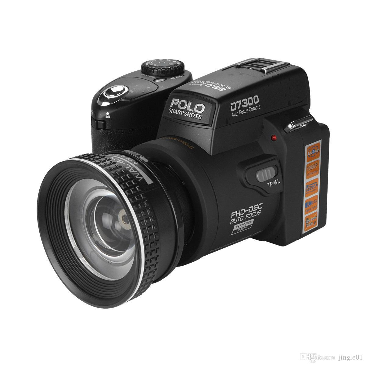 DHL Polo D7300 Цифровая камера HD1080P 3.0LCD 24 раза Оптический зум 33 миллиона пикселей, 3 режима Дополнительный свет, трех ног рама