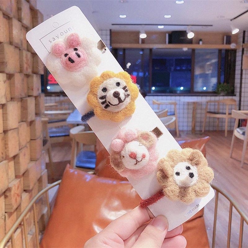 2020 New Korea Kinder Hairpin Cartoon Kleintiere Haarspange Haar-Seil-süße nette Spange für Mädchen-Mode-Accessoires Nettes Haar A Fhuy #
