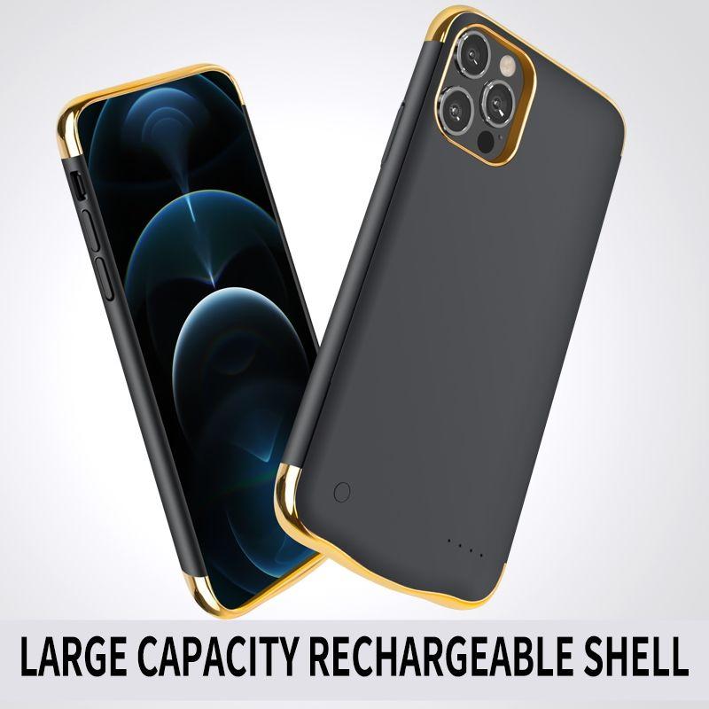 Pour iPhone12 12Promax 4800mAh Cas de batterie de batterie de batterie d'urgence Portable Portable Power Bank Coquille pour téléphone intelligent