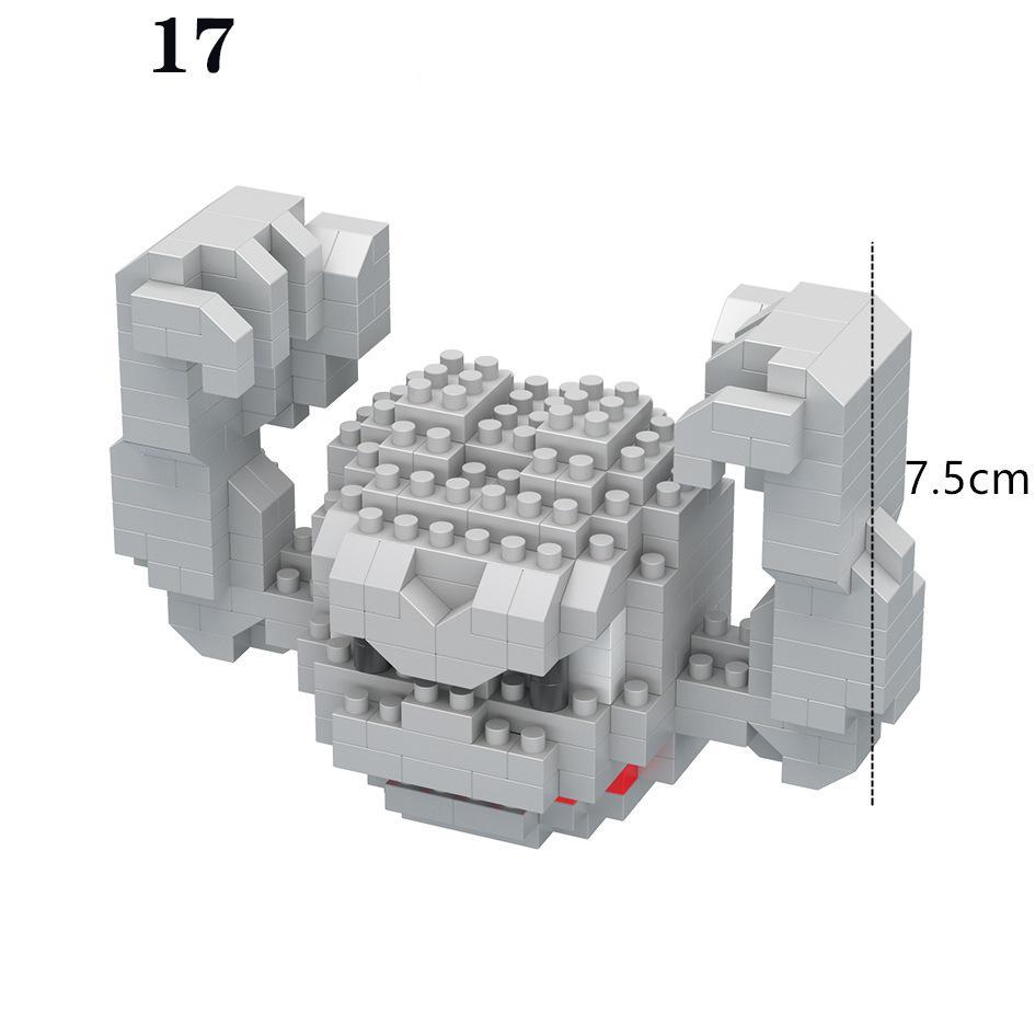 Les enfants jouet sont un petit assemblage disponible en blocs elfe-puzzle cadeau variété de styles de diamants bâtiment particule scjub