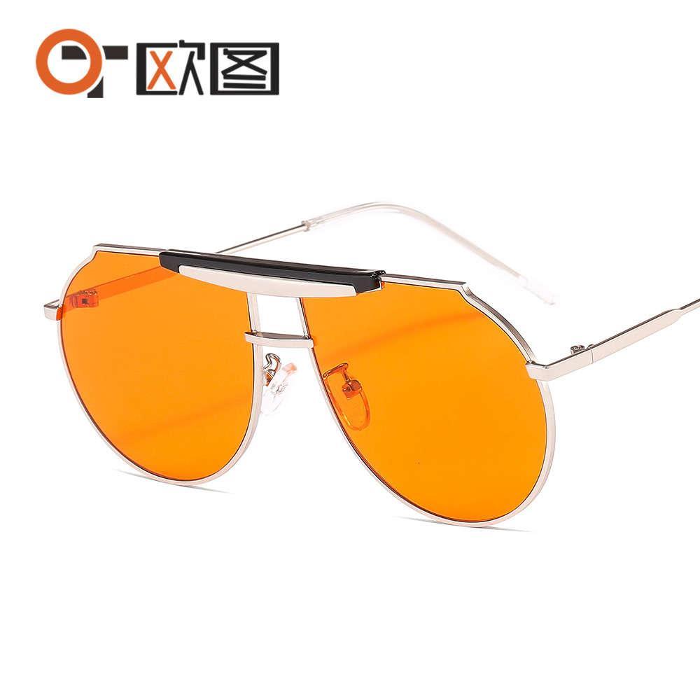 Neue 2020gm Sonnenbrille Q5868 Herren- und Damen Metall Großer Rahmen verbunden