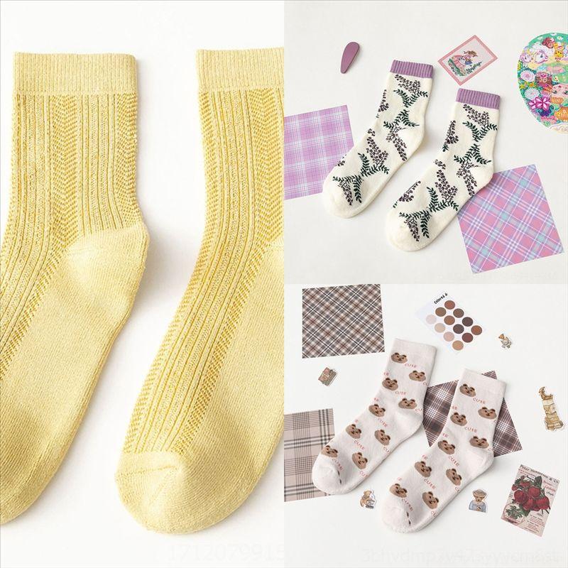 OAPP INS Узор осенью и зимние носки женские алмазные хлопковые стиль мода спортивный носок мужчина японский