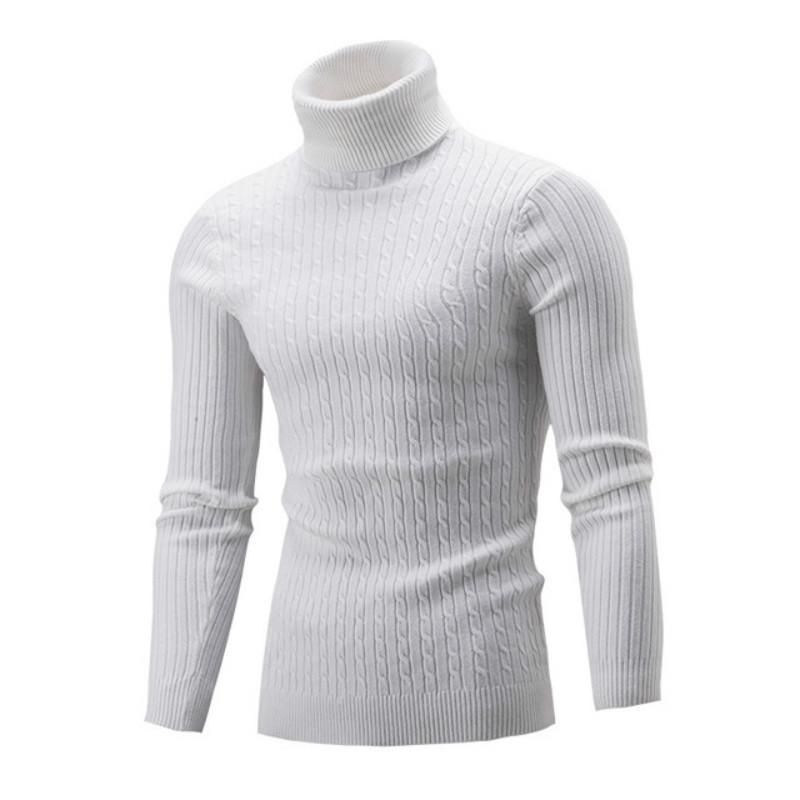 Мужские свитера 2021 мужчины осень зима свитер сплошной цвет взрослых с длинным рукавом с высоким воротником с длинным рукавом с высоким воротником
