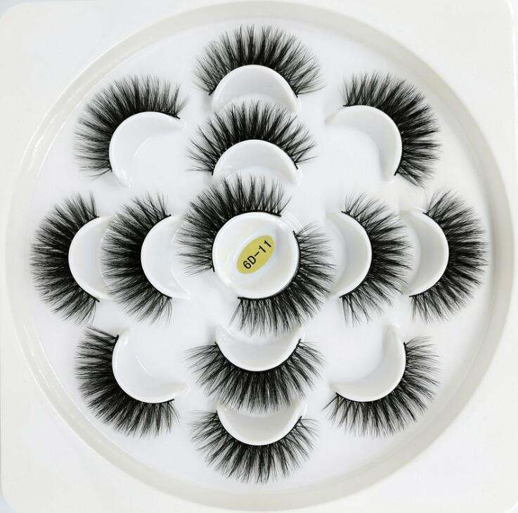 Neueste 7 Paare 3D Wimpern Handgemachte Natürliche lange Faux Mink Wimpern Frauen Makeup Falsche Wimpern Erweiterungen Maquiagem Tools Drop Shipping