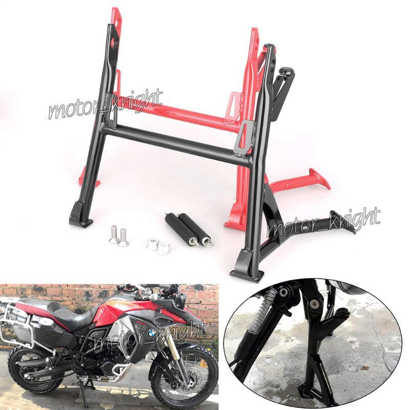Black Motech Motorcycle Center Stand Centre Centle Kicst Kick Stand Side Bracket Mount для F800GS Adventure 2008-2021 Red