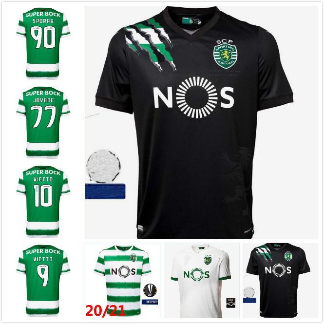 20 21 Spor CP Futbol Formaları Phellype 2020 2021 Spor Lizbon Vietto Futbol Gömlek Coates Acuna Sporar Jovane Erkekler Çocuk Kiti Üniforma