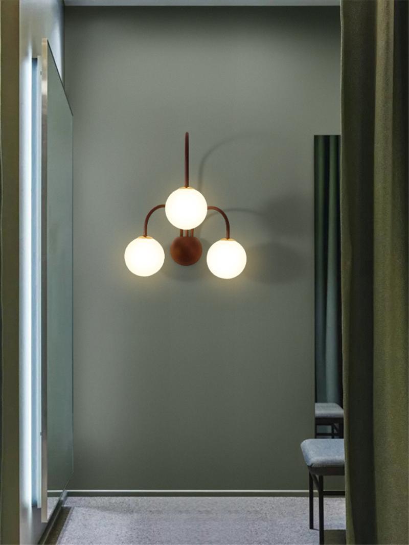 Applique murale Designer Courbe Ligne de verre Lampes de verre Chambre à coucher enfants Saisie couloir couleurs d'appliques lumières de luxe salon de fixtures