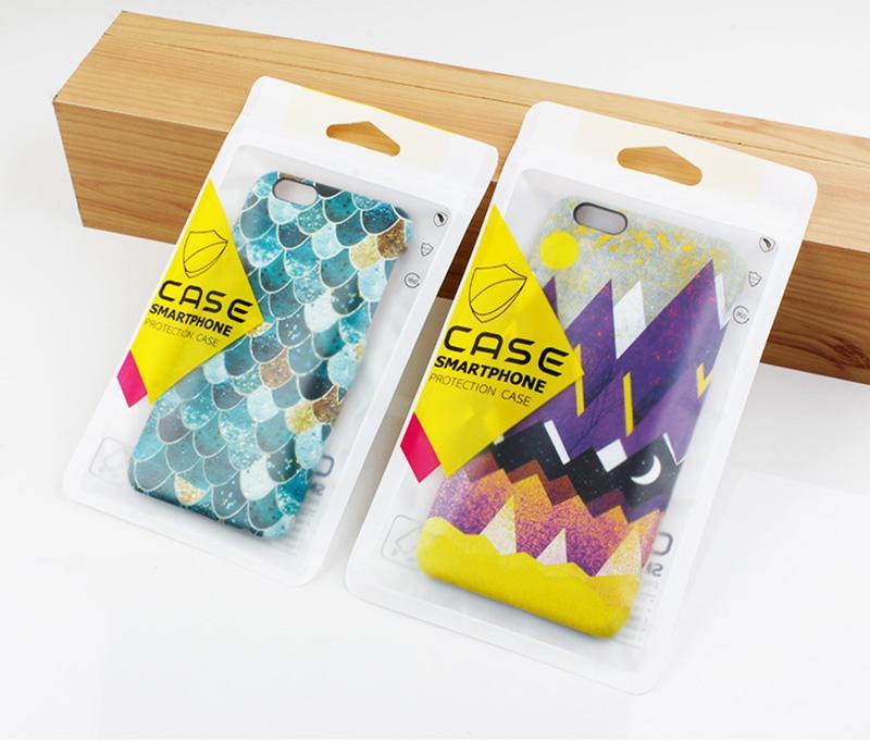 Di vendita caldo di plastica Zipper trasparente d'argento di vendita al dettaglio del nastro di imballaggio del sacchetto della cassa del telefono delle cellule per l'iphone 8 8plus per iPhone 7 7 più il caso