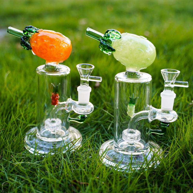 Уникальные фрукты ананасовые формы стекло бонги водопроводные трубы кальяны DAB 14 мм женское соединение рециркулятор Percs курение бонг чаша воска нефтяной выгрешкой