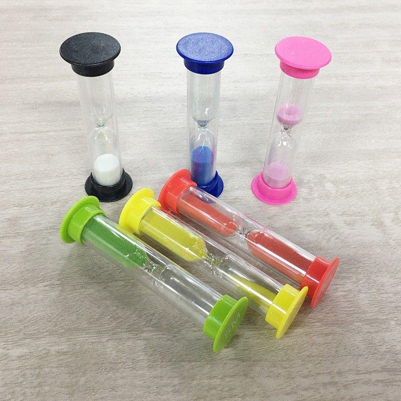 플라스틱 1 분 모래 시계 여러 가지 빛깔의 모래 시계 모래 시계 타이머 크리 에이 티브 선물 키즈 장난감 시간 측정기 홈 장식 BH4296 WXM 39 G2