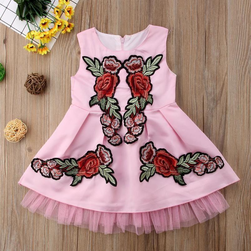 Flower Girl Princess Dress 2019 New Kid Party Pageant Wedding Dresses For Girls Children Clothin sqcNfE