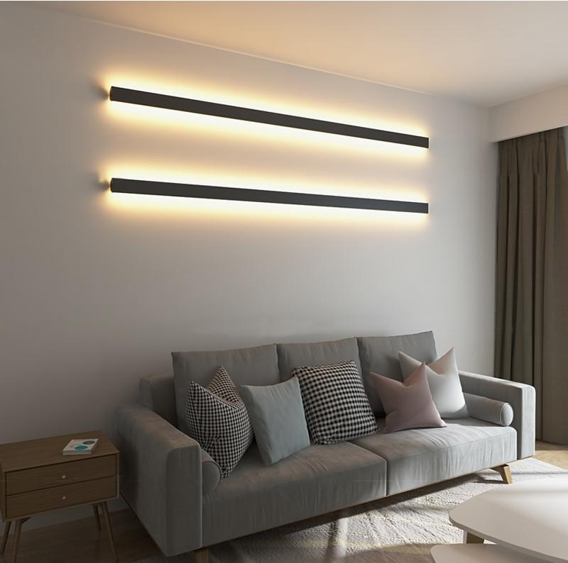 Minimalist Yaratıcı Tavan Lambası Modern LED Arka Plan Tavan Işık Salon Başucu Alüminyum Tavan Ligting AC 110V 220V