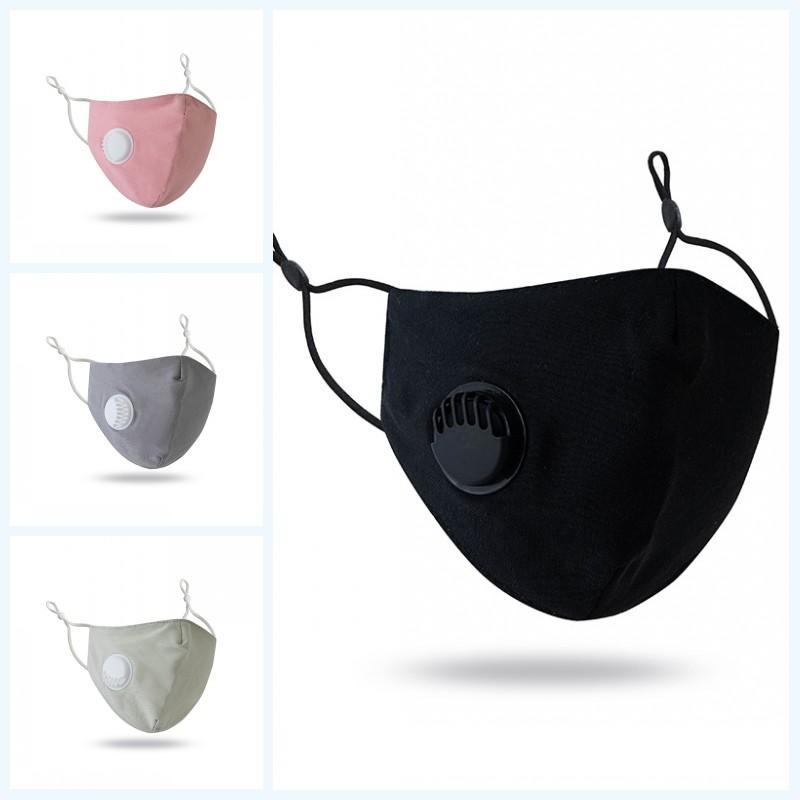 DHL de envío unisex de protección máscara respiratoria de la válvula Máscara reutilizable lavable y transpirable Cúbrase la boca Máscaras gancho del oído ajustable Cara Kimter-L757FA