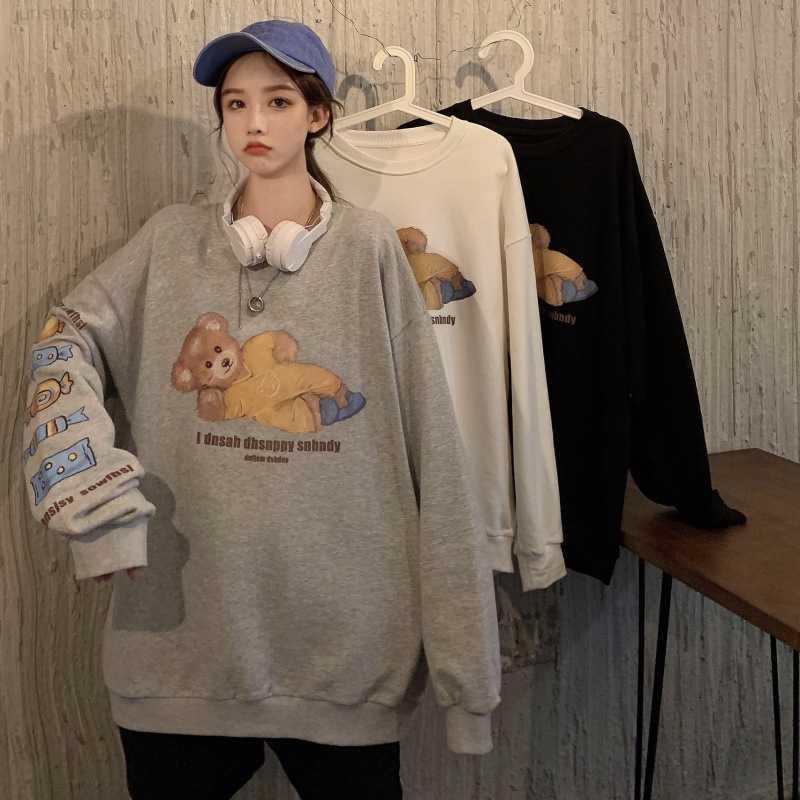 Осенний JK Свитер Корейский Женская Свободная и Зима 2020 Новая Женская Одежда Студент Студент Большой Капюшон Куртка Женская Мода
