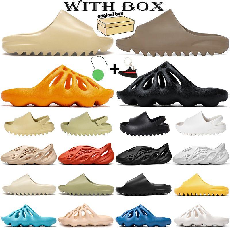 slide foam runner Chaussures Kanye West Mens Donna Designer Ciabatte Pantofole Schiuma Runner Zoccoli Sandali casa piattaforma da esterno