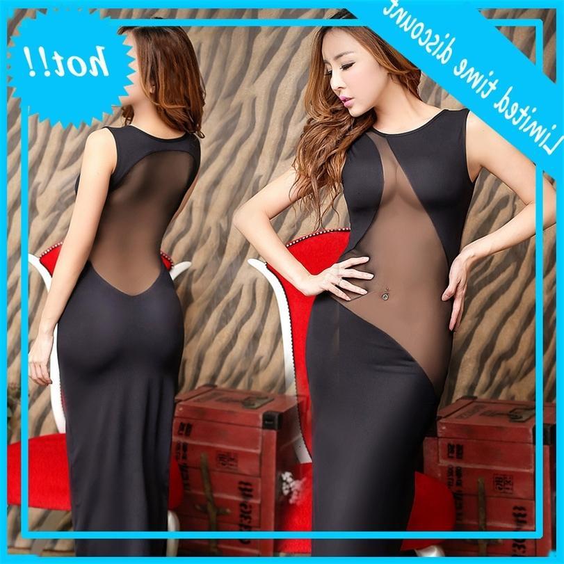 Корейский женское платье Чрезвычайно привлекательное сексуальное нижнее белье пакет ночной клуб длинной юбкой тонкий