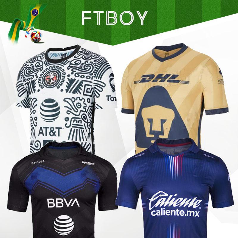 Liga MX 21 22 22 22 Club América Futebol Jerseys Terceiro 2021 2022 México Xolos de Tijuana Tigres Unam Homens Chivas Cruz Azul Futebol Camisas