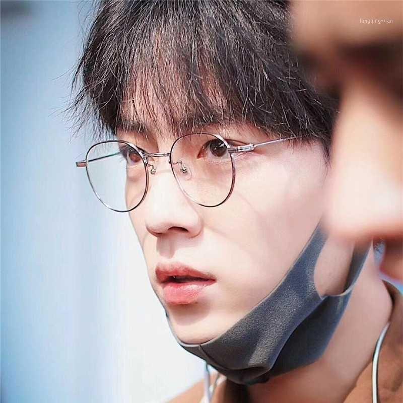 Koreanische sanfte Marke Titanium verschreibungspflichtige Brillen Rahmen Männer Frauen Runde Myopie Optische Leto Eye Brille Frame Men1