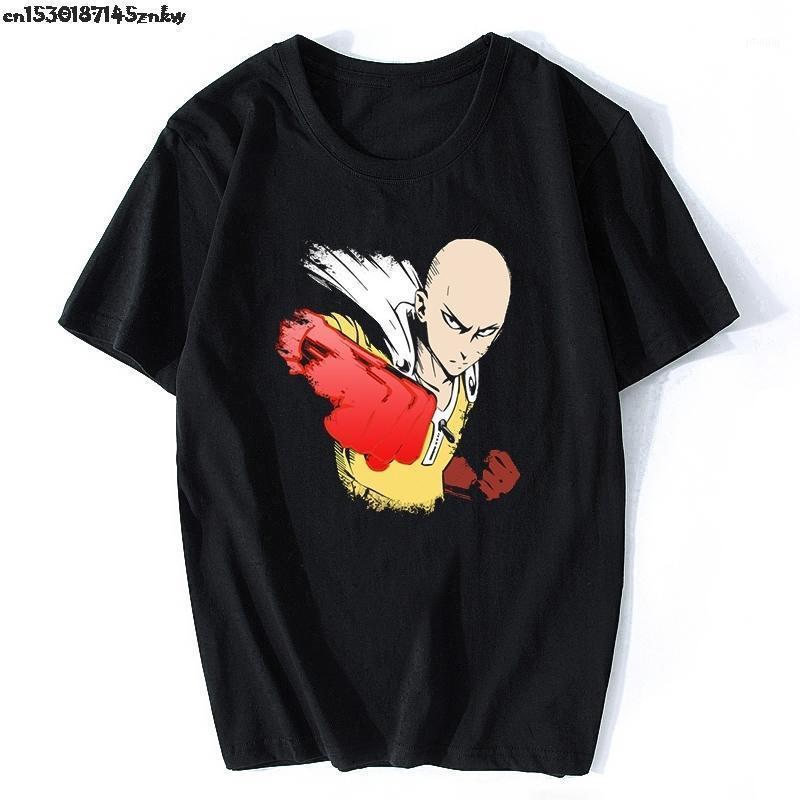 Мужские футболки один удар человек Saitama Sensi Япония аниме евро размера хлопчатобумажная футболка летняя одежда повседневная футболка эстетическая одежда P371