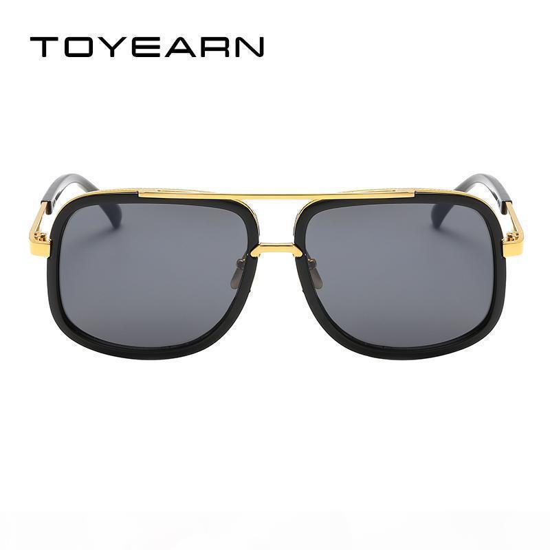 2019 Nouvelles lunettes de soleil carrées de haute qualité Hommes pilote Vintage Vintage rétro lunettes pour hommes pour lunettes de soleil mâles 2018 ZONNEBRIL Mannen KB24