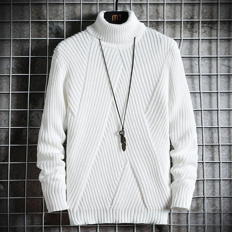 Весна осень мужская свитер стритюна Японии стиль свитер мужчины повседневная Harajuku с длинным рукавом мужская одежда Turtelneck свитер мужчины 1113