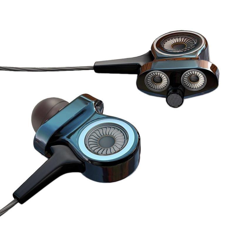 Wired fone de ouvido HiFi Super Bass fone de ouvido estéreo com microfone Esporte Disponível para Telefones Computadores
