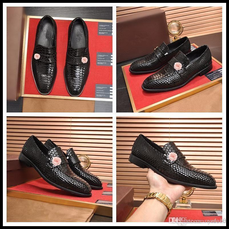 C6 Mode Slip auf Männer Kleid Schuhe Männer Oxfords Mode Business Kleid Männer Schuhe 2019 Neue Klassische Leder Herrenanzüge Schuhe 33