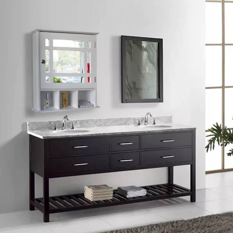 US сток одному дверь три отсека для ванной комнаты кабинет белый дом мебель для гостиной шкаф быстрая доставка