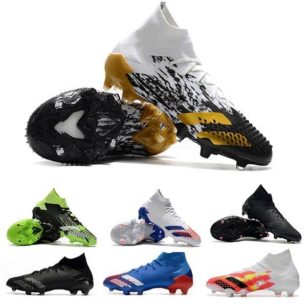 Predator 20,1 FG Inflight Chaussures Or blanc métallisé avec dentelle Football Crampons Uniforia DEMONSKIN Tourmenteur Vert Bleu Royal Chaussures de soccer