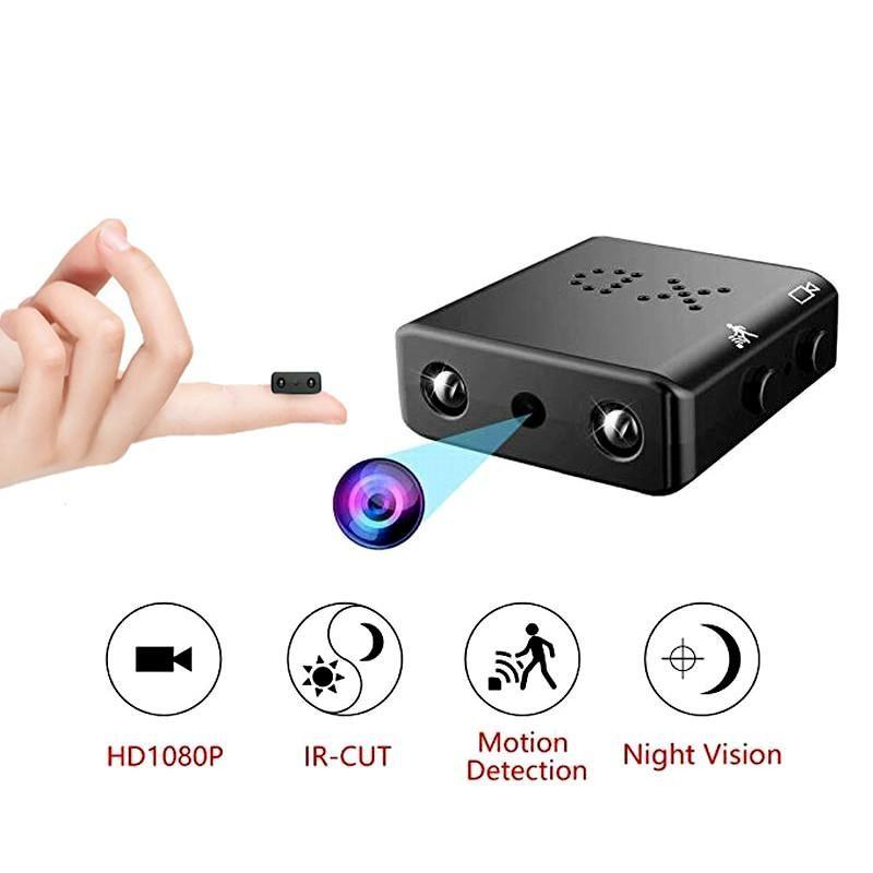 미니 카메라 카메라 가장 작은 1080P HD 캠코더 적외선 야간 투시경 마이크로 캠 움직임 감지 DV DVR 보안
