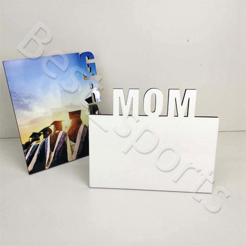 إطارات التسامي فارغة خشبية الحرارية المرحلة المرحلة لوحة أمي شخصية هدية إطارات عيد الأم عيد الإطار CYZ2976