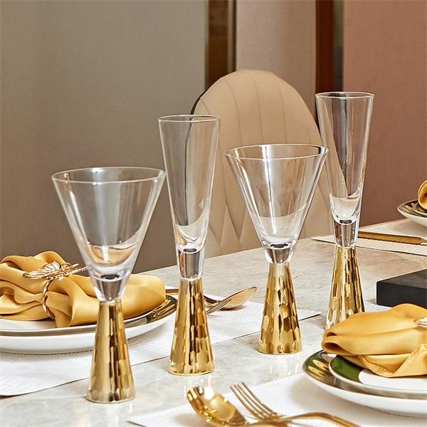 Western Luxury Crystal Red Wine Glass Top Grade Restaurant Wedding Champagne Flutes Coupes Brandy Snifters Cups Vasos De Cristal Q1222