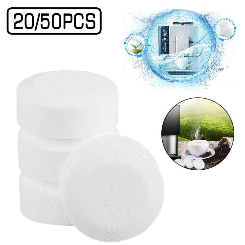 20 / eau multifonctions comprimé 50pcs Effervescent Spray Cleaner verre concentré de nettoyage Machine à café Tuyau Dirt Taches C1030
