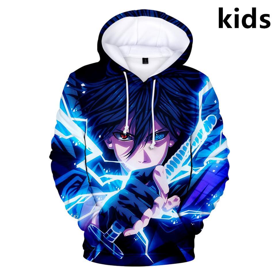 2 a 14 anos Naruto roupas crianças crianças meninos meninas 3d hoodie popular animação moletom harajuku streetwear criança roupa x1021