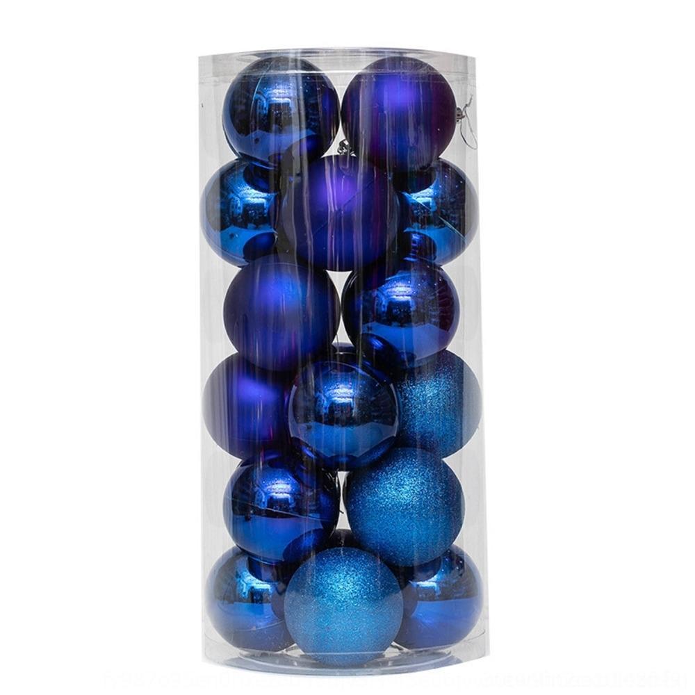 bola yclqY 3 centimetros 8cm / 24pcs pingente transparente Set Pingente de decorações bola árvore de Natal Ball ballChristmas xlXdN