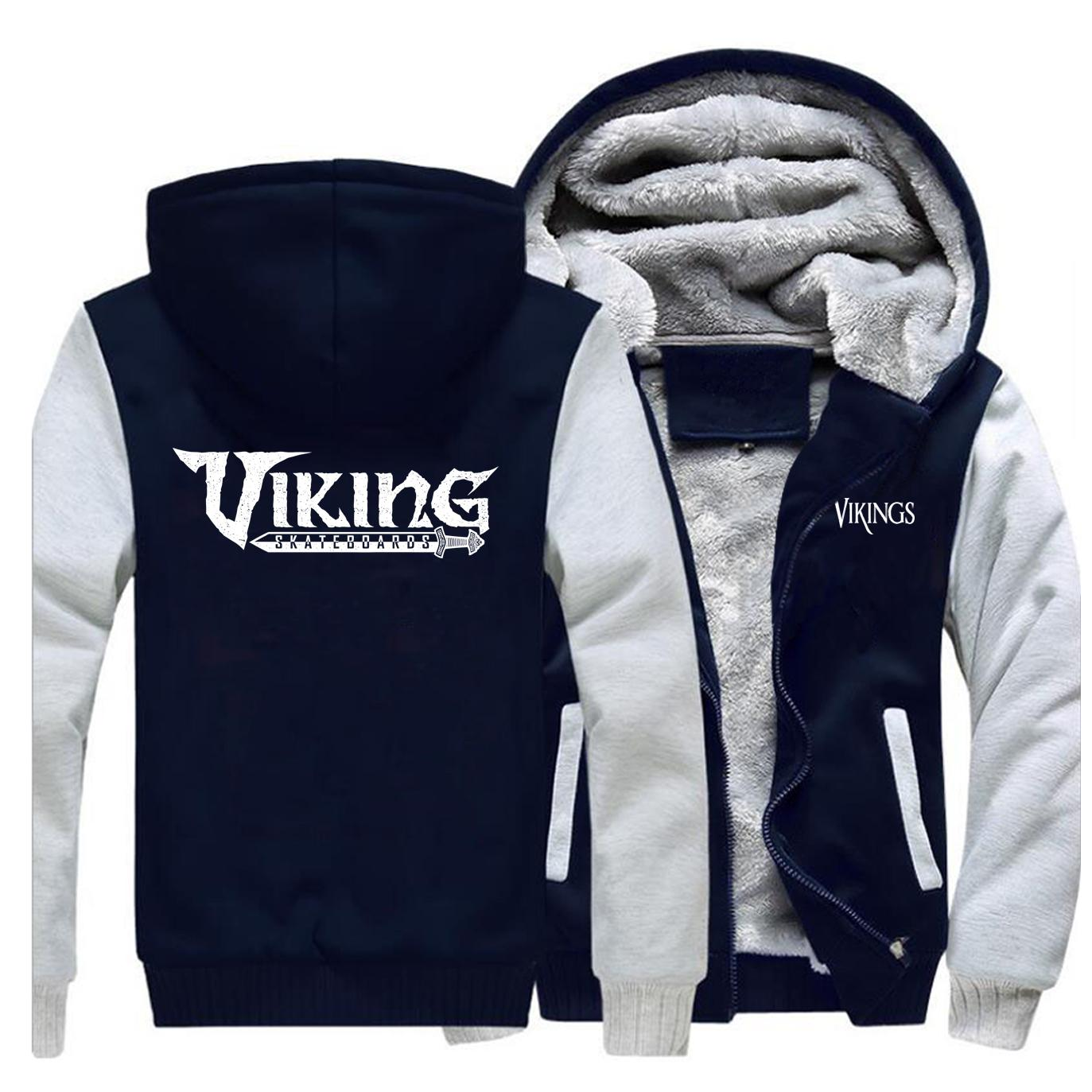 Odin Vikings 2019 Kış erkek Raglan Hoodie Komik Casual Kalın Hoodies Kazak Yüksek Kaliteli Erkekler Ceket Mektup Baskı Giyim X1022