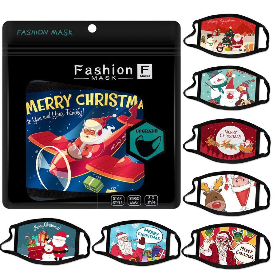 قناع عيد الميلاد قناع الوجه أقنعة تصميم الرسوم المتحركة وجه سانتا الرجال هدية ثلج قناع الغبار الضباب الأزياء والنساء البالغات