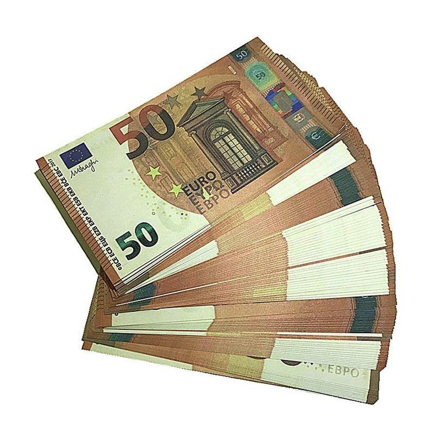 Valuta EUR Faux Billet Dollar Dollari Euro Play 20 100pcs / pack Film Film Money Euro Euro Bracciale Bra 100 Prop J9 Money VXQPA Edwtu