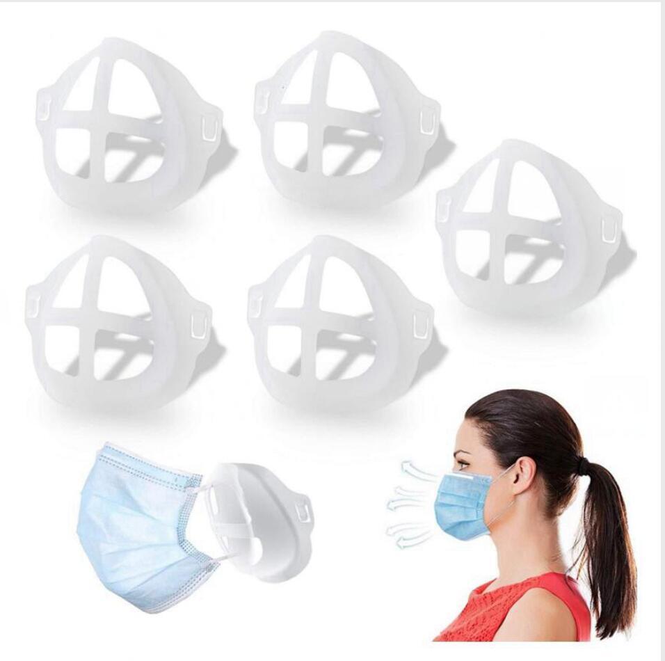 3D Masque Support pour adulte Protection Rouge à lèvres Masque des enfants Tribune de soutien interne pour respirer librement Masques visage porte-outil Accessoires LJJP564