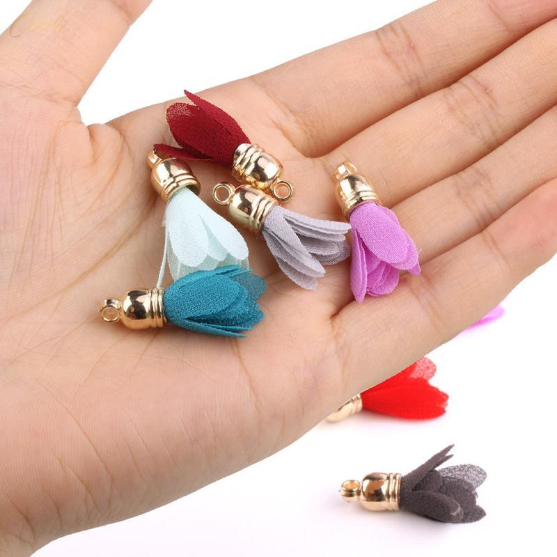 30pcs mini bouchon métal fleur glands pour bijoux boho bricolage artisanat fabrication de fournitures bracelet collier boucle d'oreille recherche accessoires h jlldkn