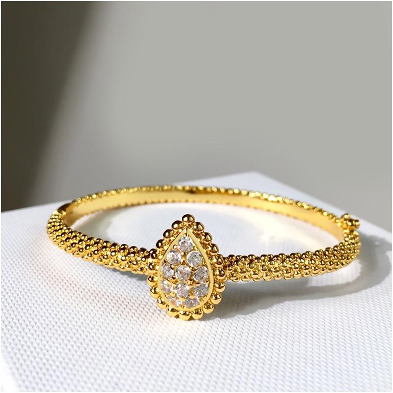 Bridal Necklace and Bracelets Accessories Bridal Jewelry Sets Rhinestone Formal Brides Accessories Gold Cuff Bangles Luxury Jewelry